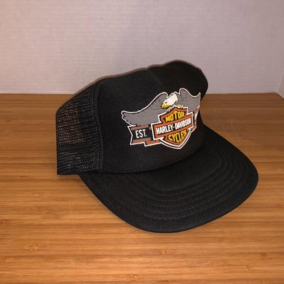3261c732b Vintage HARLEY DAVIDSON *USA* Trucker Hat Cap MINT